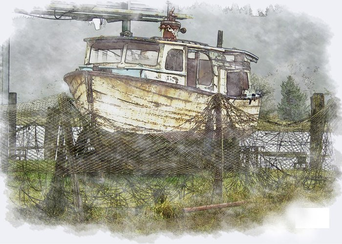 Boat Greeting Card featuring the photograph Hidden Treasure 2 by Dale Stillman
