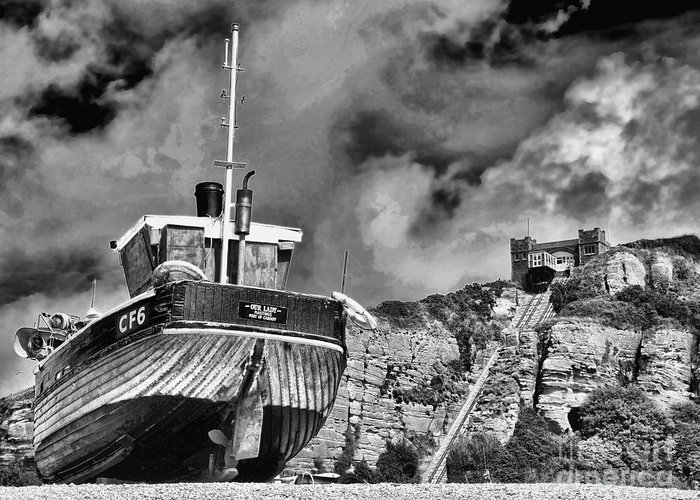 Funicular Railway Hastings Greeting Card featuring the photograph High And Dry 2 by Graham Taylor