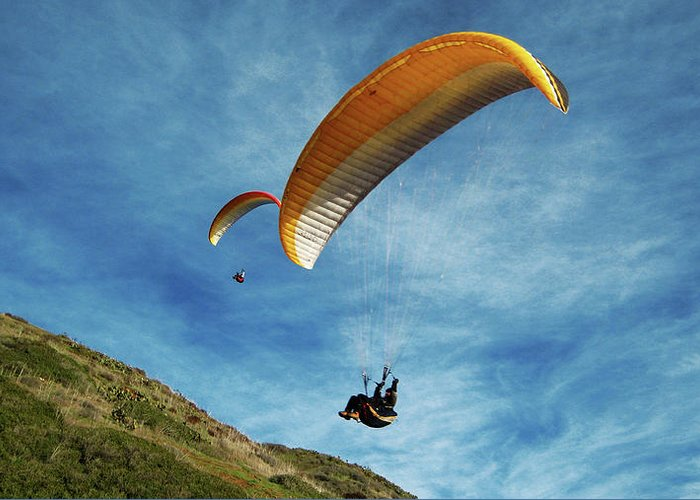 Gliders Greeting Card featuring the photograph High Flyers by Lorraine Devon Wilke