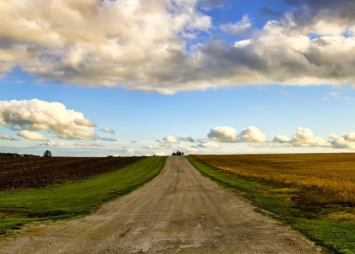 New Melle Greeting Card featuring the photograph Highway D New Melle Mo 3 by Bill Tiepelman