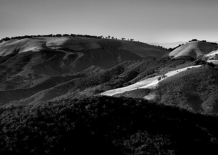 California Greeting Card featuring the photograph Hills Of Light And Darkness II by Steven Ainsworth