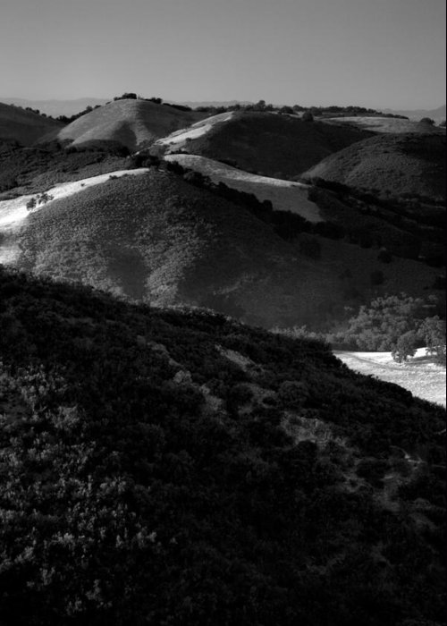 California Greeting Card featuring the photograph Hills Of Light And Darkness by Steven Ainsworth