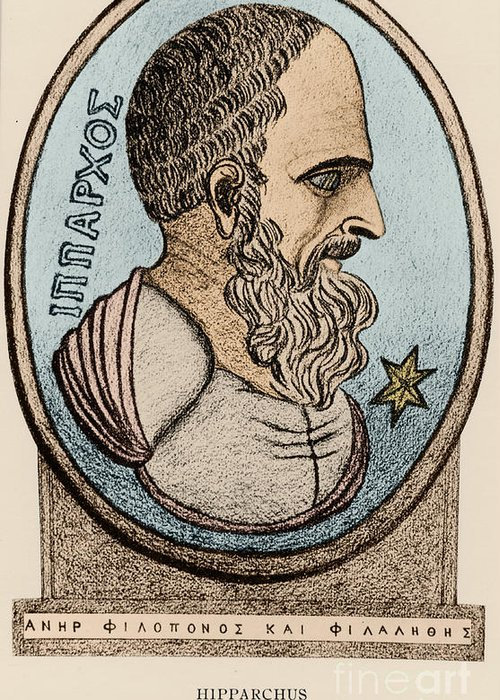 Science Greeting Card featuring the photograph Hipparchus, Greek Astronomer by Photo Researchers, Inc.