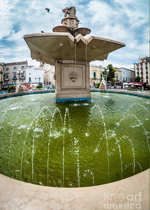 Fountain Greeting Card featuring the photograph Historic Fountain by Sabino Parente