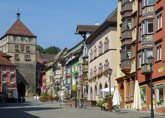 Rottweil Greeting Card featuring the photograph Historical Old Town Rottweil Germany by Matthias Hauser