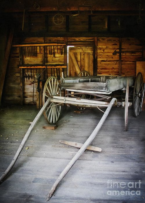 Wagon Greeting Card featuring the photograph Hitch Your Wagon by Colleen Kammerer