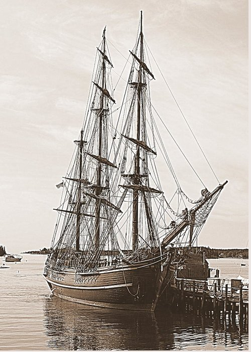 Seascape Greeting Card featuring the photograph Hms Bounty by Doug Mills