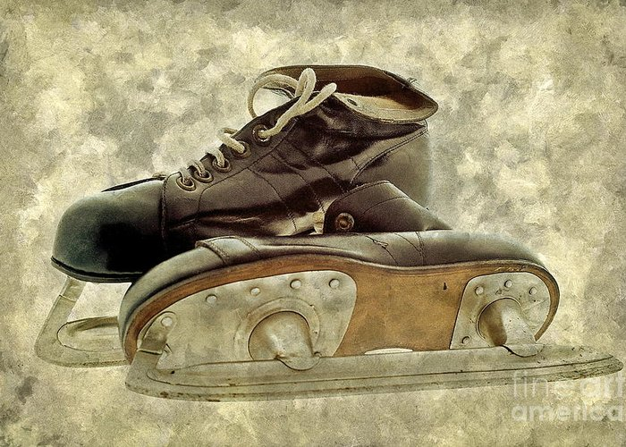 Sport Greeting Card featuring the photograph Hockey Boots by Dariusz Gudowicz
