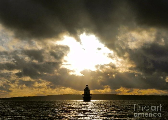 Lighthouse Greeting Card featuring the photograph Hog Island Shoal Lighthouse by Nick Korstad