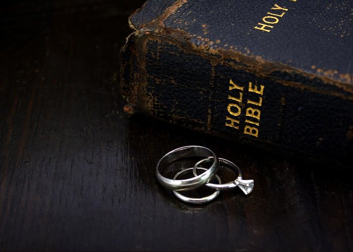 Bible Greeting Card featuring the photograph Holy Matrimony by Lynnette Johns