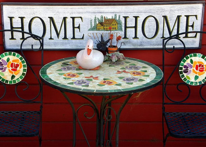 Chairs Greeting Card featuring the photograph Home Sweet Home by Jeff Lowe