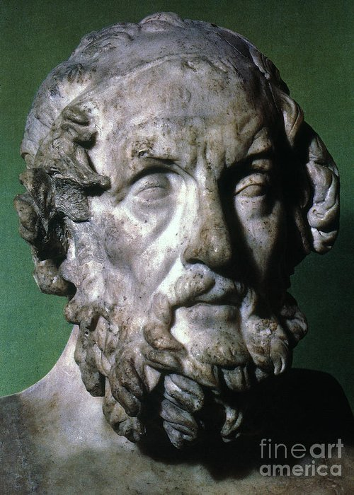 8th Century B.c Greeting Card featuring the photograph Homer (9th-8th Century B.c.) by Granger