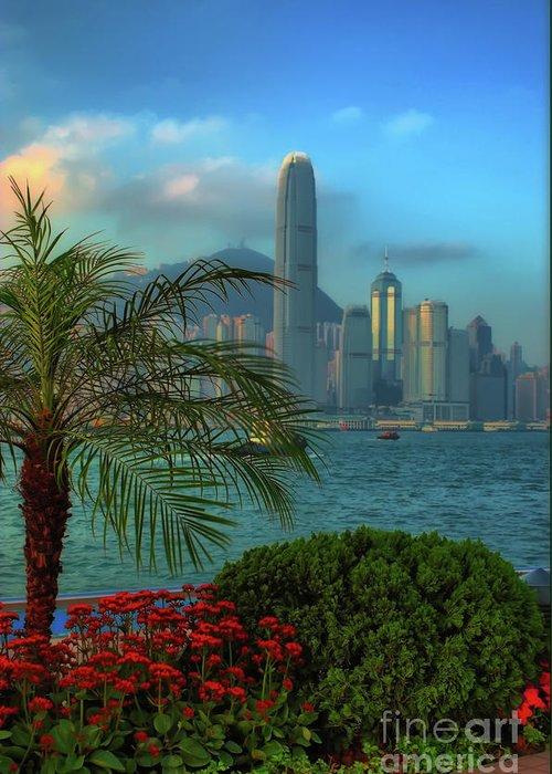 hong Kong Greeting Card featuring the photograph Hong Kong Mornings by Bibhash Chaudhuri