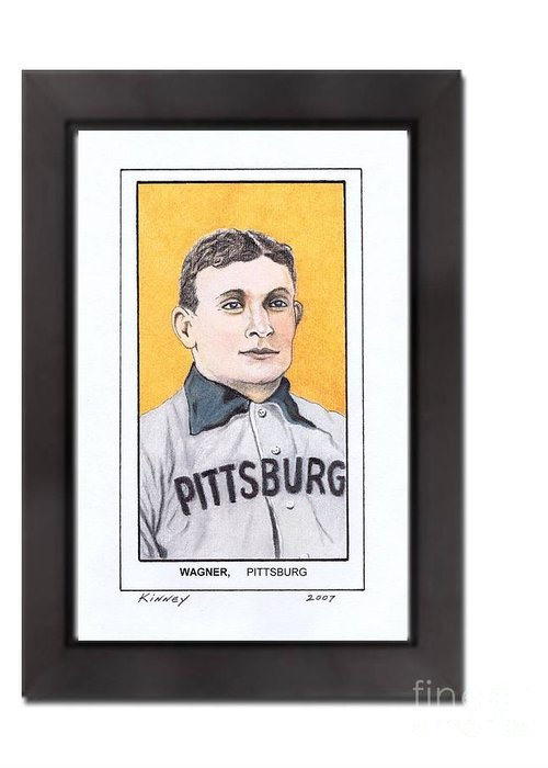 Honus Wager Greeting Card featuring the pastel Honus Wager by Jay Kinney