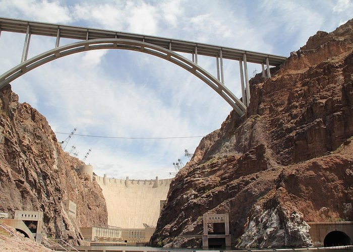 Aerial Greeting Card featuring the photograph Hoover Dam by Kim French