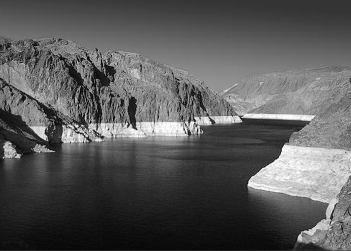 Nevada Greeting Card featuring the photograph Hoover Dam Reservoir - Architecture On A Grand Scale by Christine Till