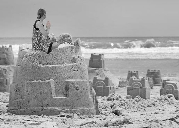 Sandcastle Greeting Card featuring the photograph Hope by Betsy Knapp