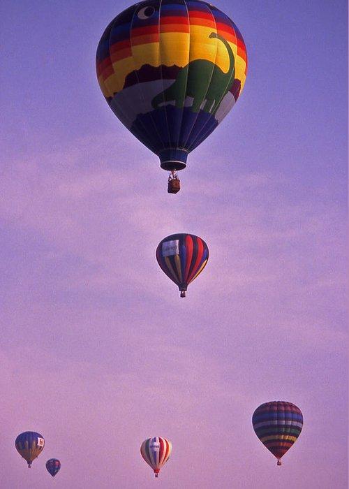 Hot Air Greeting Card featuring the photograph Hot Air Balloon Race - 3 by Randy Muir