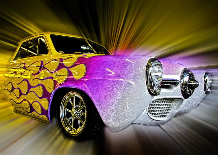 Vehicle Greeting Card featuring the photograph Hot Rod Art by Steve McKinzie