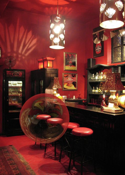 Bar Greeting Card featuring the photograph Hotel California With Bubble by Pam Blackstone