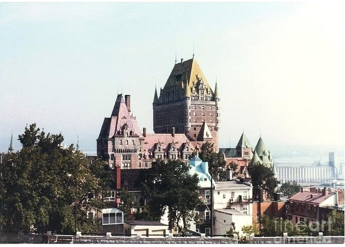 Chateau Photograph Greeting Card featuring the photograph Hotel Frontenac Quebec Canada by Cedric Hampton