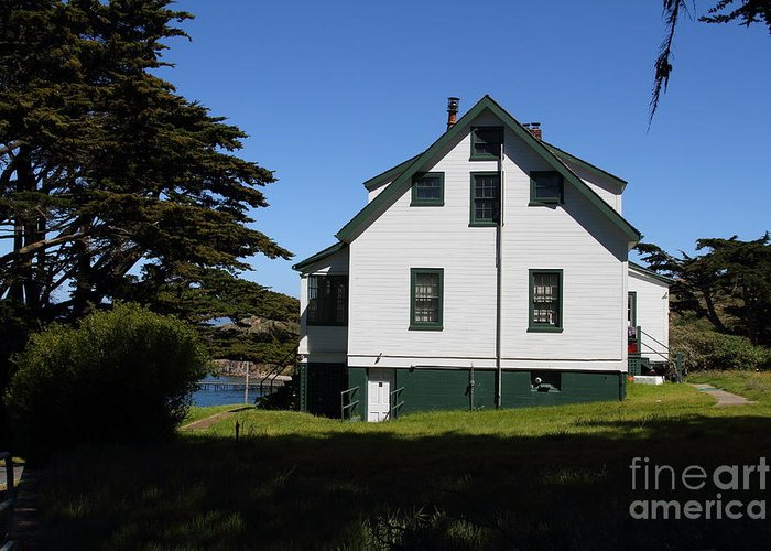 Landscape Greeting Card featuring the photograph House At Point Reyes Calfornia . 7d16125 by Wingsdomain Art and Photography