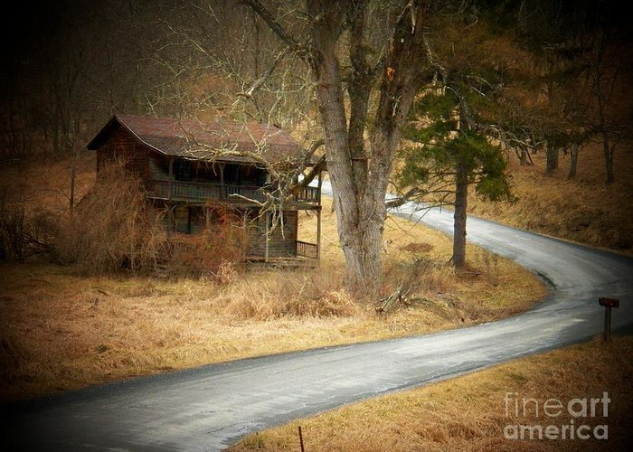 West Virginia Greeting Card featuring the photograph House On A Curve by Joyce Kimble Smith