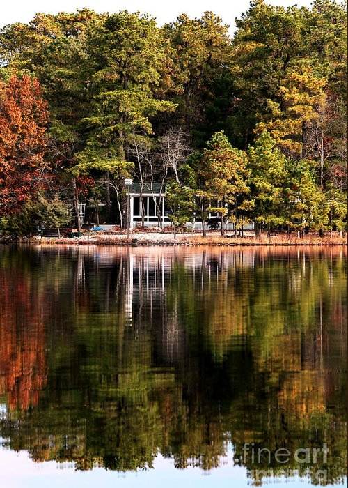 House On The Lake Greeting Card featuring the photograph House On The Lake by John Rizzuto