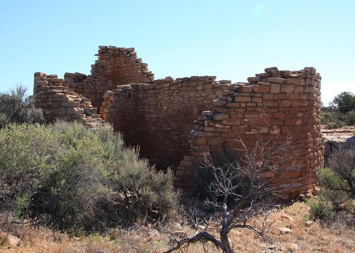 Hovenweep National Monument Greeting Card featuring the photograph Hovenweep House by Cynthia Cox Cottam