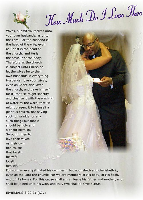 Wedding Greeting Card featuring the digital art How Much Do I Love Thee by Terry Wallace