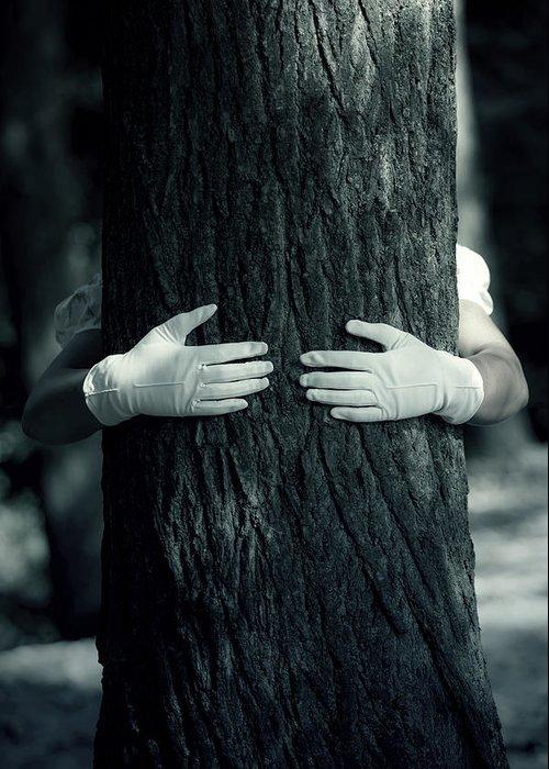 Hand Greeting Card featuring the photograph hug by Joana Kruse
