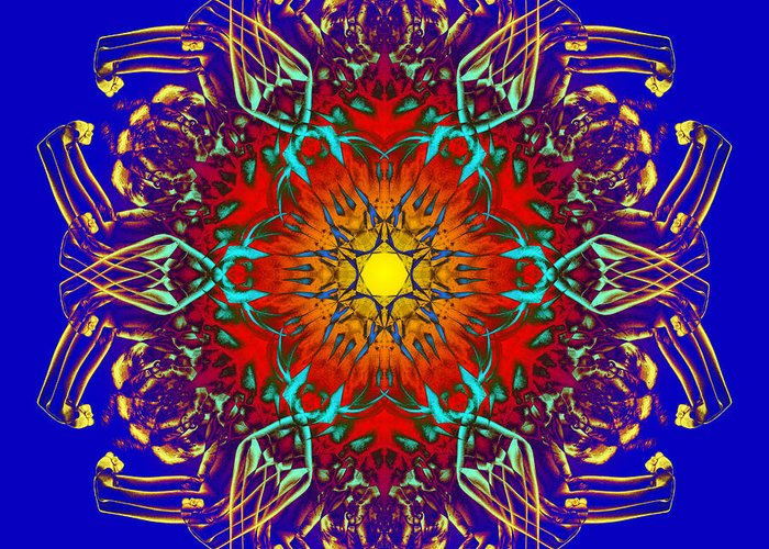 Psychedelic Greeting Card featuring the photograph Humandala 1 by David Kleinsasser
