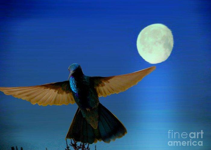 Al Bourassa Greeting Card featuring the photograph Hummingbird Moon II by Al Bourassa