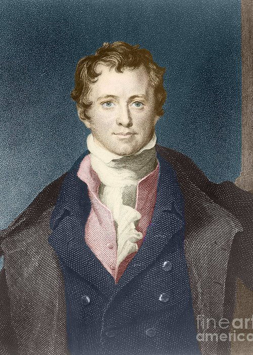 Science Greeting Card featuring the photograph Humphry Davy, English Chemist by Science Source