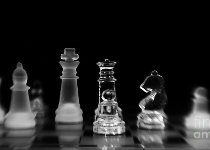 Chess Greeting Card featuring the photograph Hunt For The King by Priska Wettstein