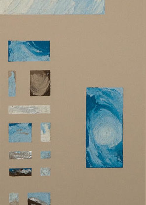 Hurricane Greeting Card featuring the mixed media Hurricane 1 by Alison Quine