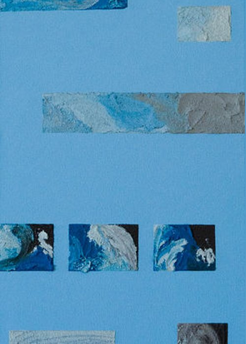 Hurricane Greeting Card featuring the mixed media Hurricane 3 by Alison Quine