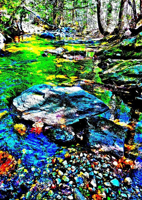 Landscape Greeting Card featuring the photograph Hyper Childs Brook Z 60 by George Ramos
