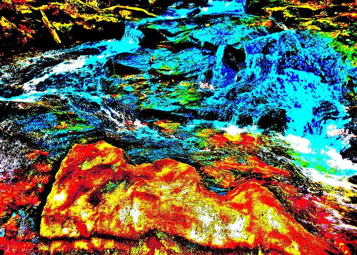 Landscape Greeting Card featuring the photograph Hyper Childs Brook Z 68 by George Ramos