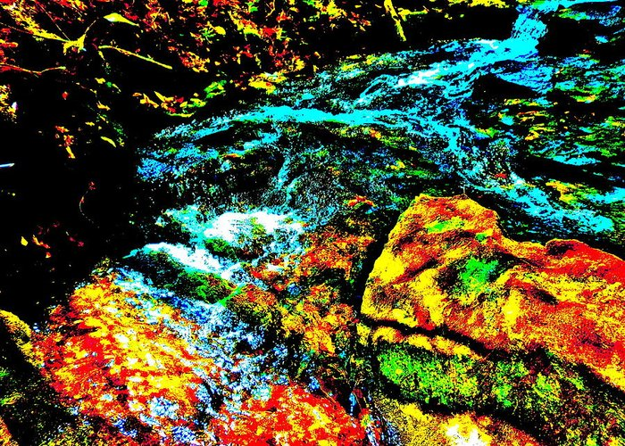 Landscape Greeting Card featuring the photograph Hyper Childs Brook Z 69 by George Ramos
