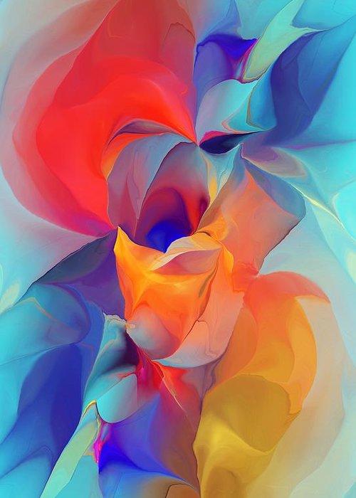 Fine Art Greeting Card featuring the digital art I Am So Glad by David Lane
