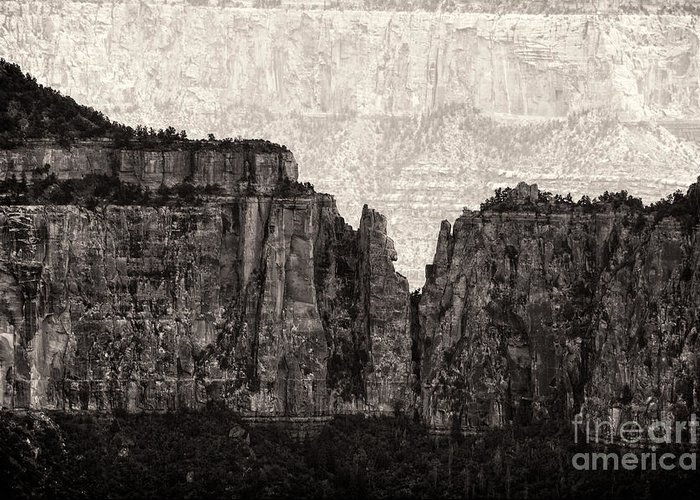 The Grand Canyon National Park Greeting Card featuring the photograph I Have Climbed A Mountain by Venura Herath