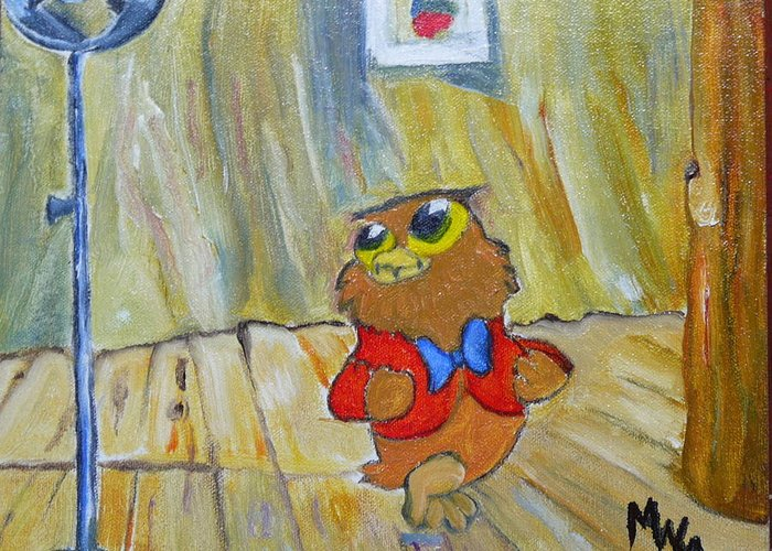I Love To Sings.. Greeting Card featuring the painting I Love To Singa... by Mark Malone
