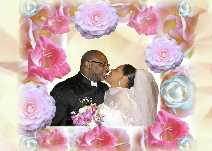 Wedding Greeting Card featuring the digital art I Pronounce You Husband And Wife by Terry Wallace