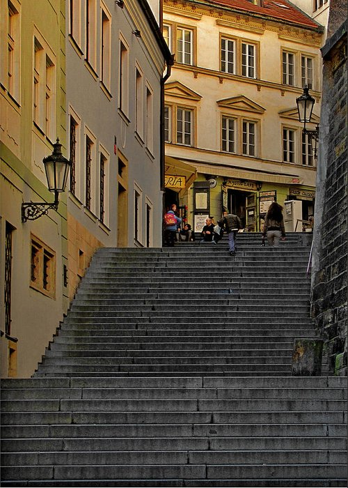 Prague Greeting Card featuring the photograph I Walked The Streets Of Prague by Christine Till