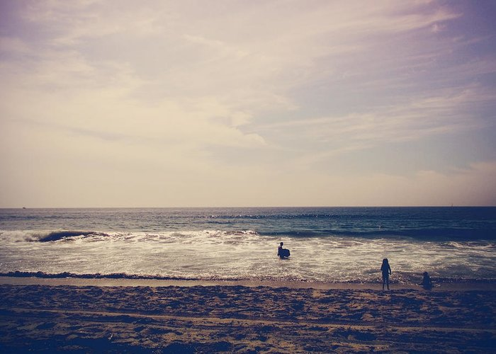 Carlsbad Greeting Card featuring the photograph I Want To Swim In The Ocean With You by Laurie Search
