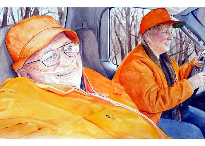 Pa Game News Greeting Card featuring the painting I Will Dad by Dana Bellis