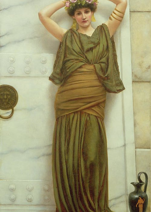Ianthe Greeting Card featuring the painting Ianthe by John William Godward