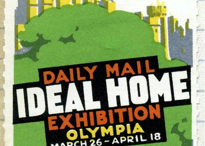 Ideal Home Exhibition Greeting Card featuring the photograph Ideal Home Exhibition Stamp, 1920 by Cci Archives