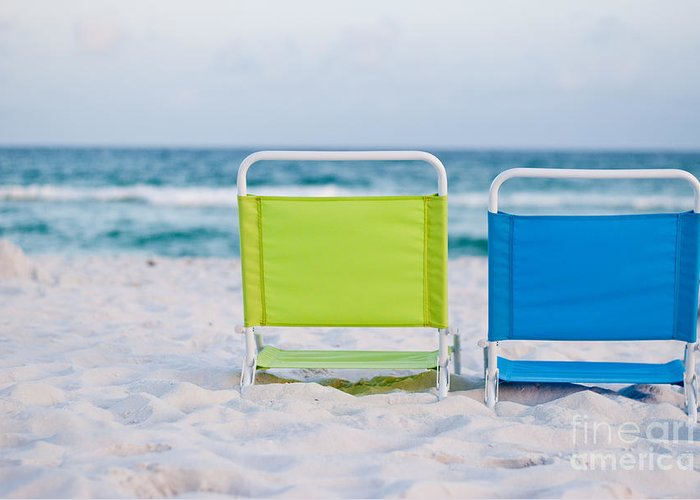 Beach Greeting Card featuring the photograph If I Were A Chair... by Barbara Shallue